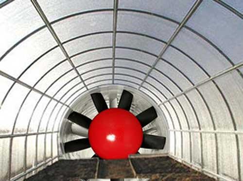 Система вентиляции теплицы